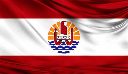 Flag of French Polynesia, 3D illustration.