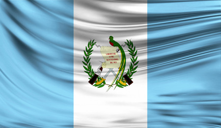 Flag of Guatemala, 3D illustration.
