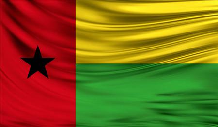 Flag of Guinea-Bissau, 3D illustration. Stock Photo