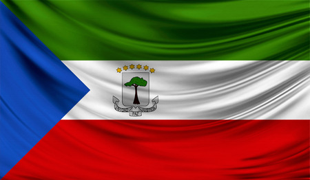 Flag of Equatorial Guinea, 3D illustration.