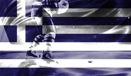 british culture: flag of Greece, hockey championship