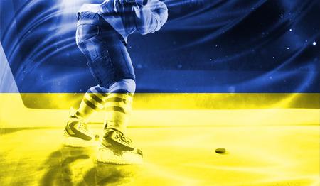 hockey goal: flag of Ukraine, hockey championship