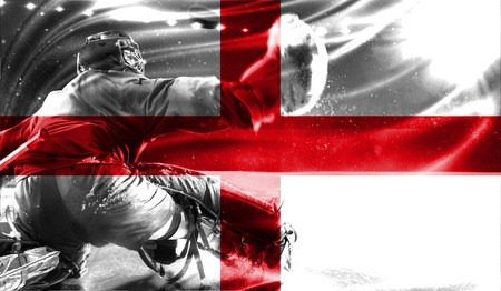 hockey goal: flag of England, hockey championship