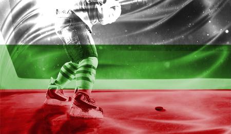 hockey goal: flag of Bulgaria, hockey championship
