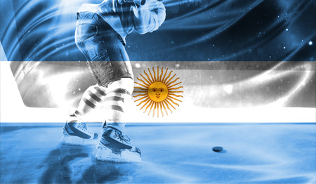 british culture: flag of Argentina, hockey championship
