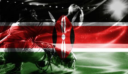 british culture: flag of Kenya, hockey championship Stock Photo