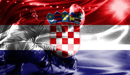 hockey goal: flag of Croatia, hockey championship