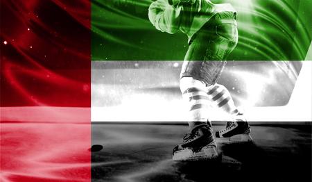 hockey goal: flag of United Arab Emirates, hockey championship