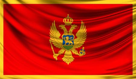 Flag of Montenegro, 3D illustration.