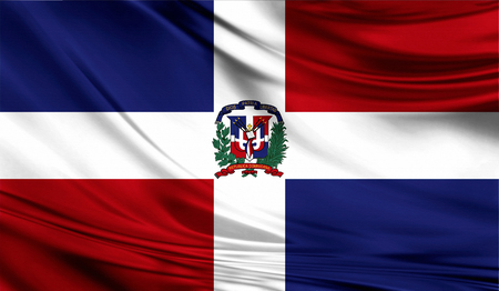 Flag of Dominican Republic , 3D illustration. 版權商用圖片 - 86535127