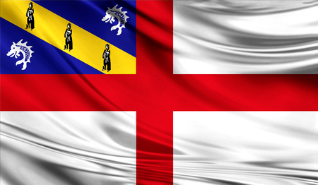 Flag of Herm, 3D illustration.