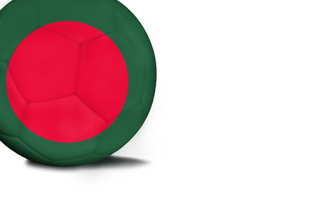 The flag of Bangladesh was represented on the ball, the ball is isolated on a white background with space for your text.