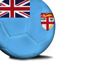 The flag of Fiji was represented on the ball, the ball is isolated on a white background with space for your text.