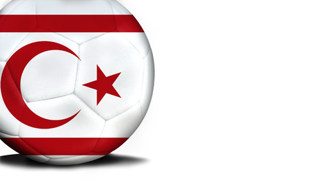 The flag of Turkish Republic of Northern Cyprus was represented on the ball, the ball is isolated on a white background with space for your text.
