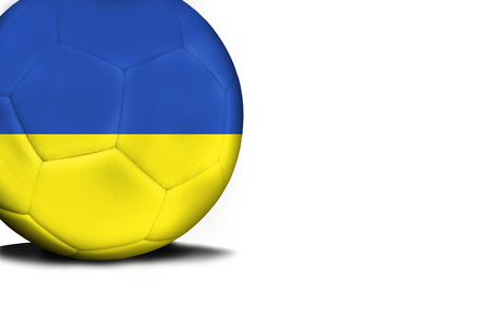The flag of Ukraine was represented on the ball, the ball is isolated on a white background with space for your text. Stock Photo