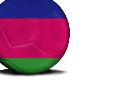 The flag of Kuban peoples republic was represented on the ball, the ball is isolated on a white background with space for your text.