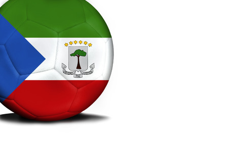 The flag of Equatorial Guinea was represented on the ball, the ball is isolated on a white background with space for your text.