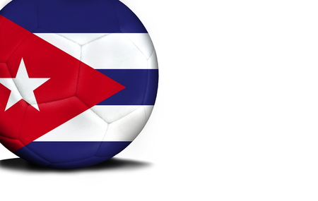 dagestan: The flag of Cuba was represented on the ball, the ball is isolated on a white background with space for your text.