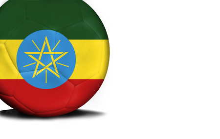 national flag ethiopia: The flag of Ethiopia was represented on the ball, the ball is isolated on a white background with space for your text.