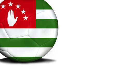 The flag of Abkhazia was represented on the ball, the ball is isolated on a white background with space for your text.