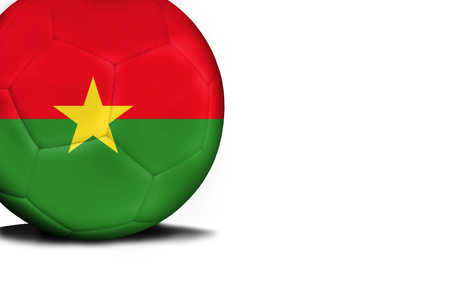 national flag ethiopia: The flag of Burkina Faso was represented on the ball, the ball is isolated on a white background with space for your text. Stock Photo