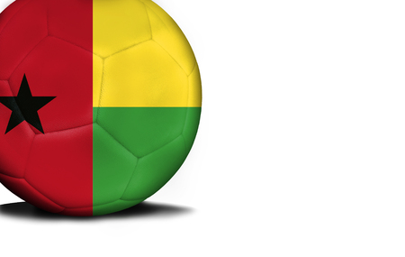 The flag of Guinea-Bissau was represented on the ball, the ball is isolated on a white background with space for your text.
