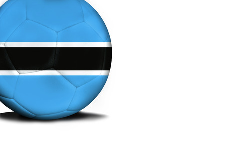 national flag ethiopia: The flag of Botswana was represented on the ball, the ball is isolated on a white background with space for your text. Stock Photo