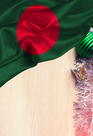 Grunge colorful flag Bangladesh, with copyspace for your text or images. Congratulations on Christmas and New Year.