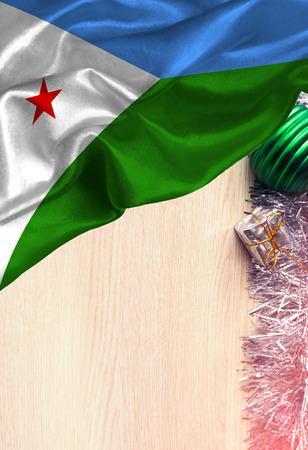 Bandera colorida Djibouti de Grunge, con el copyspace para su texto o imágenes. Felicitaciones por Navidad y Año Nuevo.