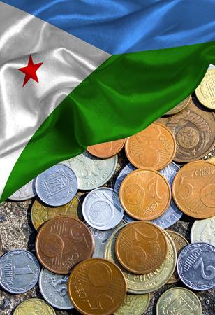 Bandera colorida Djibouti de Grunge, con el copyspace para su texto o imágenes.