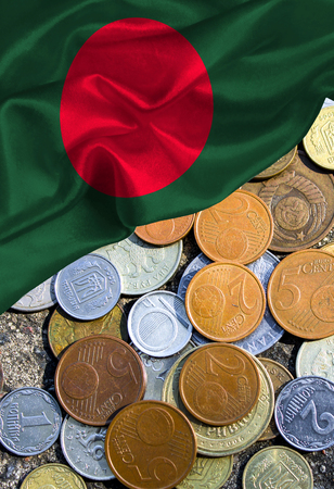 Grunge colorful flag Bangladesh, with copyspace for your text or images.