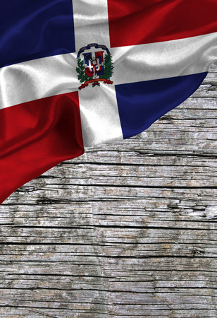 Grunge colorful flag Dominican Republic , with copyspace for your text or images. Stock Photo