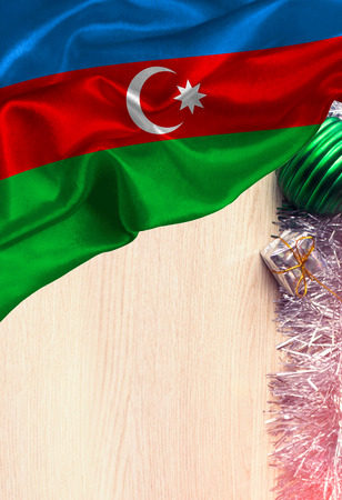 Grunge colorful flag Azerbaijan, with copyspace for your text or images. Congratulations on Christmas and New Year.