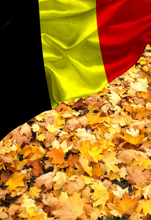 Grunge colorful flag Belgium, with copyspace for your text or images.