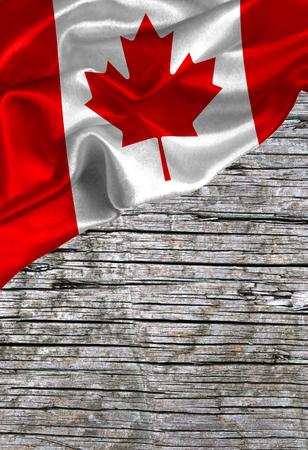 Grunge kleurrijke vlag Canada, met copyspace voor tekst of afbeeldingen. Stockfoto
