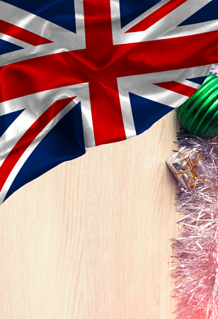 Grunge colorful flag United Kingdom, with copyspace for your text or images.