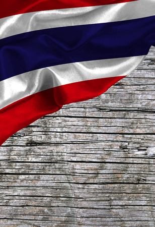 Grunge colorful flag Thailand, with copyspace for your text or images. Stock Photo