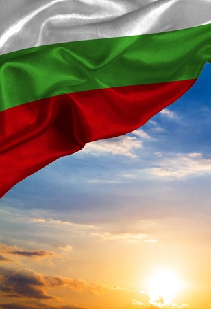 Grunge colorful flag Bulgaria, with copyspace for your text or images.