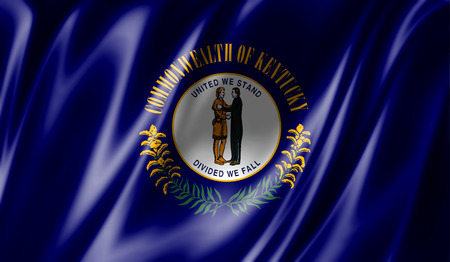 Flags from the USA on fabric ; State of Kentucky