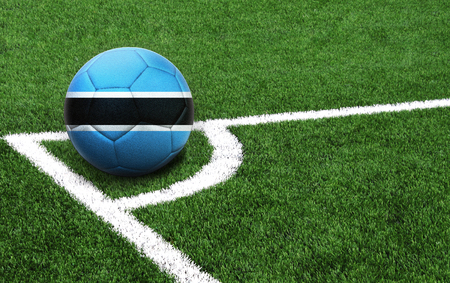 The flag of Botswana is depicted on a football, with a good place for your text