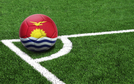 The flag of Kiribati is depicted on a football, with a good place for your text Stock Photo