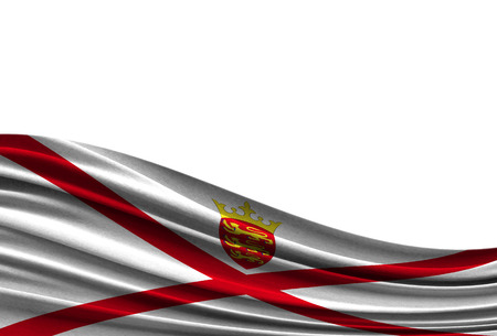 flag of Jersey isolated on white background with place for your text.