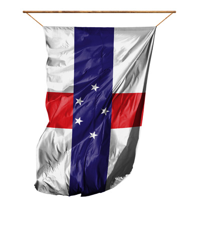 Flag of Netherlands Antilles. Vertical flag.Isolated on a white background.