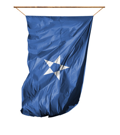 Flag of Somalia. Vertical flag.Isolated on a white background.