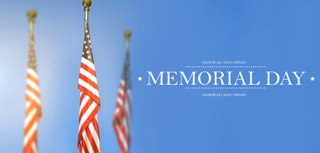 Memorial Day - Remember and honor with USA flag 스톡 콘텐츠 - 117785166