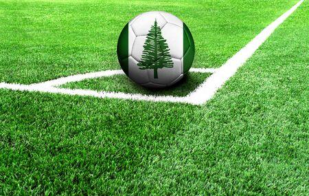 Fußball auf der grünen Wiese, Flagge von Norfolk Island