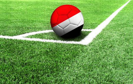 soccer ball on a green field, flag of Sealand,Principality of