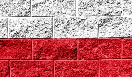 Flag of Poland close up painted on a cracked wall Reklamní fotografie