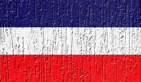 Flag of Los Altos close up painted on a cracked wall Фото со стока