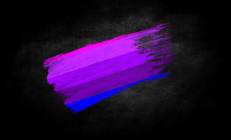 smear of paint in the form of the flag of Alternative Transgender pride close-up on a black background